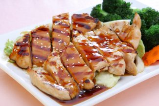 <b>Tender teriyaki steak with aroma and mellow taste</b>